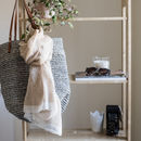 Understated Luxury, Handwoven Linen Scarf- Taupe