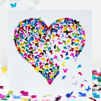 Butterfly Card, Kaleidoscope Love Card