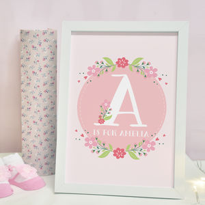 Personalised Pink Letter Print