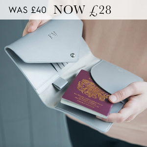 Metallic Leather Travel Wallet - gifts for her