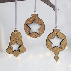 Christmas Decorations, Cork And Acrylic - summer sale