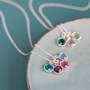 Family Birthstone Charm Pendant - gifts for mothers