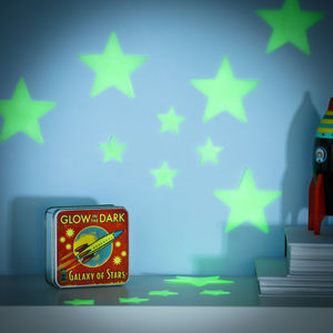 Glow In The Dark Stars In A Retro Tin - wall stickers