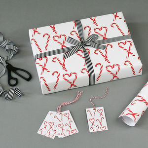Candy Cane Christmas Wrapping Paper - cards & wrap