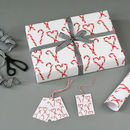 Candy Cane Christmas Wrapping Paper