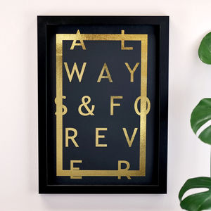Metallic Always And Forever Print - posters & prints