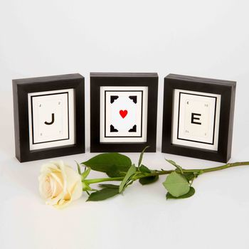 Vintage Playing Card Letter Frames