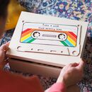 Personalised Cassette Tape Keepsake Memory Box