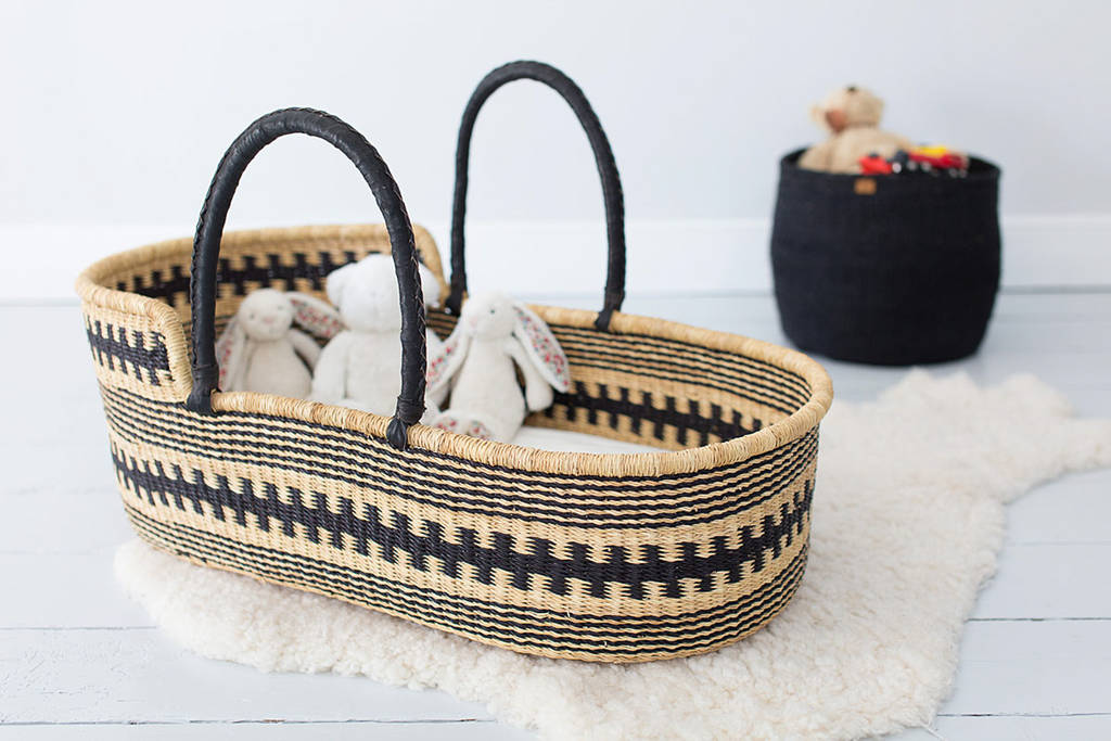 handwoven moses basket by the basket room | notonthehighstreet.com