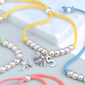 Personalised Suede Friendship Bracelet - children's jewellery