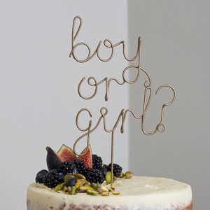 Boy Or Girl? Wire Cake Topper