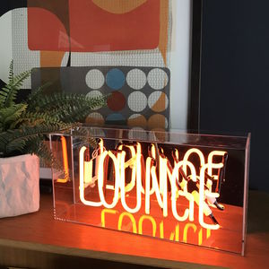 Lounge Neon Lightbox - table lamps