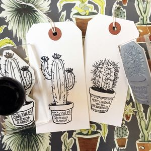 Personalised 'Christmas Cactus' Stamp - christmas stamps