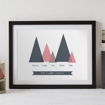 Triangle Family Tree Personalised Print