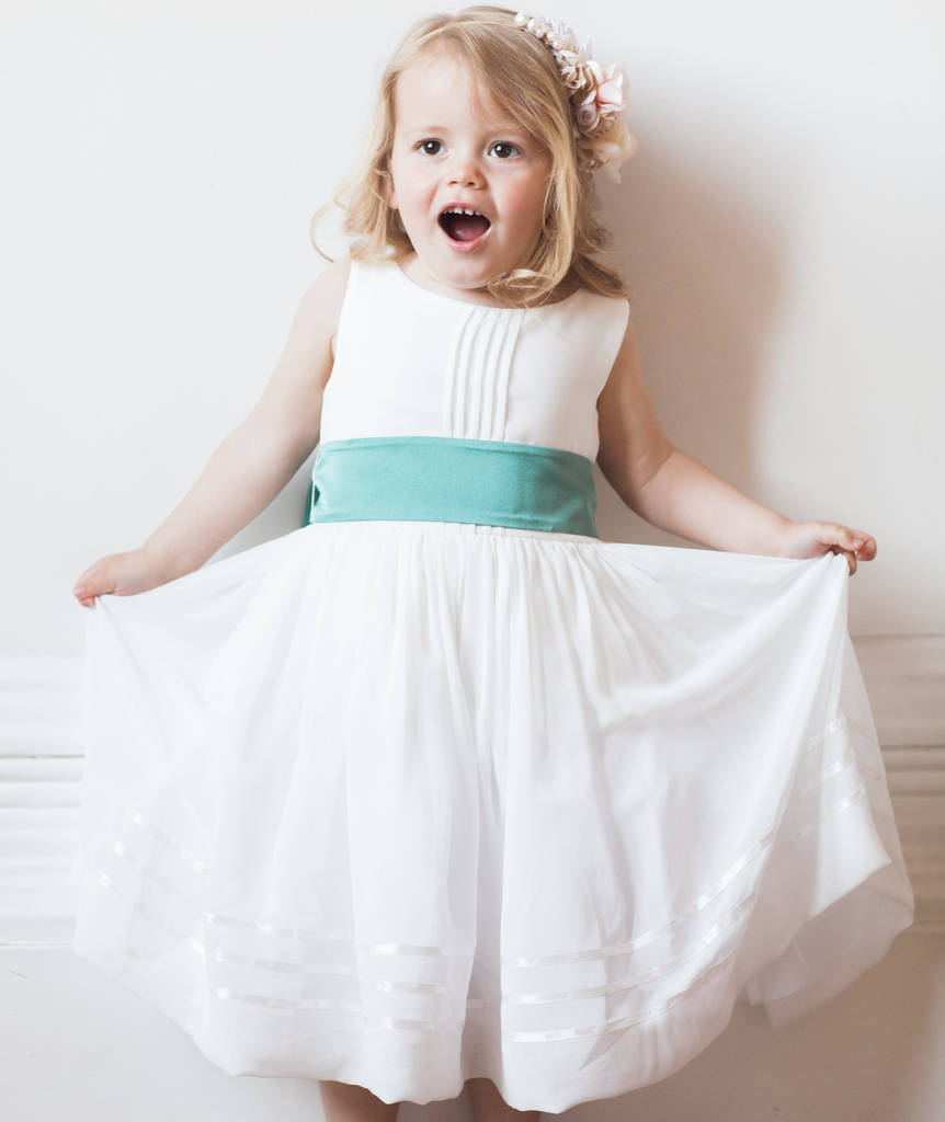 Flower Girl Dress With Sash By Matchimony Notonthehighstreet