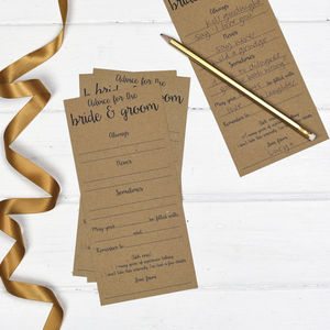 Wedding Advice Cards Pack Of 25