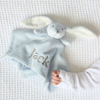 Super Soft Bunny Comforter Blue