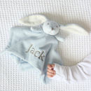Personalised Blue Bunny Comforter