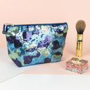 Sequin Camouflage Make Up Bag