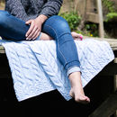 Supersoft Blue Merino Throw