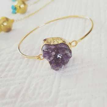 Amy Amethyst Bangle