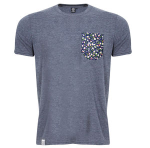 Heather Flower Pocket T Shirt - Mens T-shirts & vests
