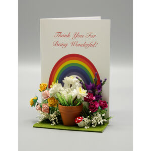 Thank You Rainbow Personalised Card