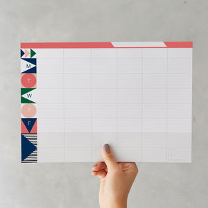 Geometric Weekly Planner Pad - stocking fillers for her