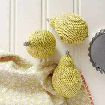 Pear Crochet Soft Toy