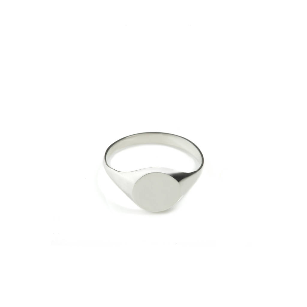 new products gold on pyrrha ring beginnings signet silver