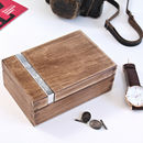 Tobacco Wood Customised Cuff Link Box