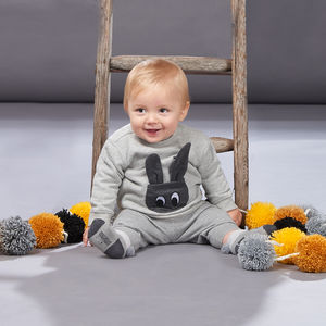 Jetson Bunny Pocket Baby Sweatshirt - babies' jumpers