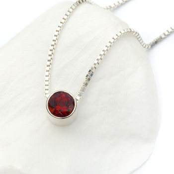 Garnet Necklace January Birthstone