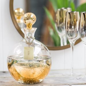 Gold Decanter With Personalised Tag - tableware