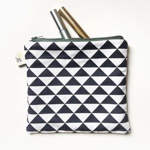 Geometric Triangles Cosmetic Bag - make-up & wash bags