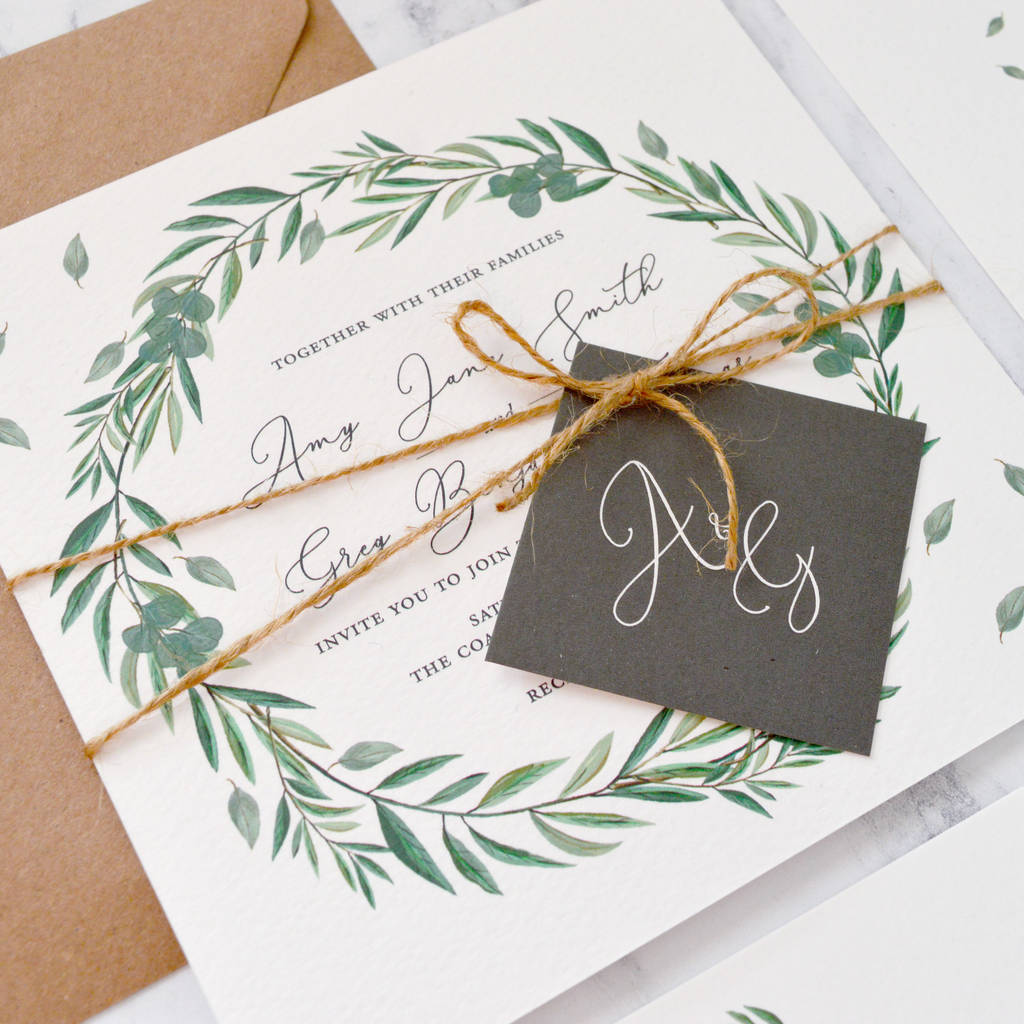 Invitation Ideas For Wedding: Eucalyptus Wedding Invitation By Amanda Michelle Design