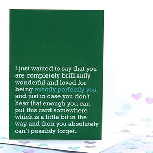 'Exactly Perfectly You' Card - birthday cards