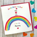 Personalised Father's Day And Birthday Rainbow Card