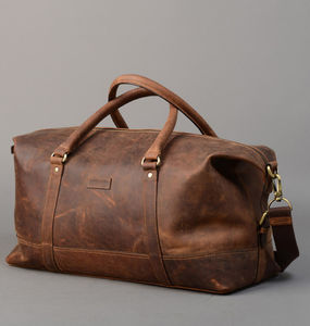 Vintage Leather Holdall - weekend bags