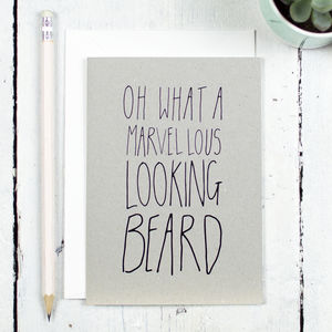 Marvellous Beard Card