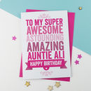 Personalised Birthday Card For Auntie / Aunt / Aunty