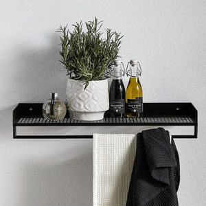 Black Metal Shelves - shelves