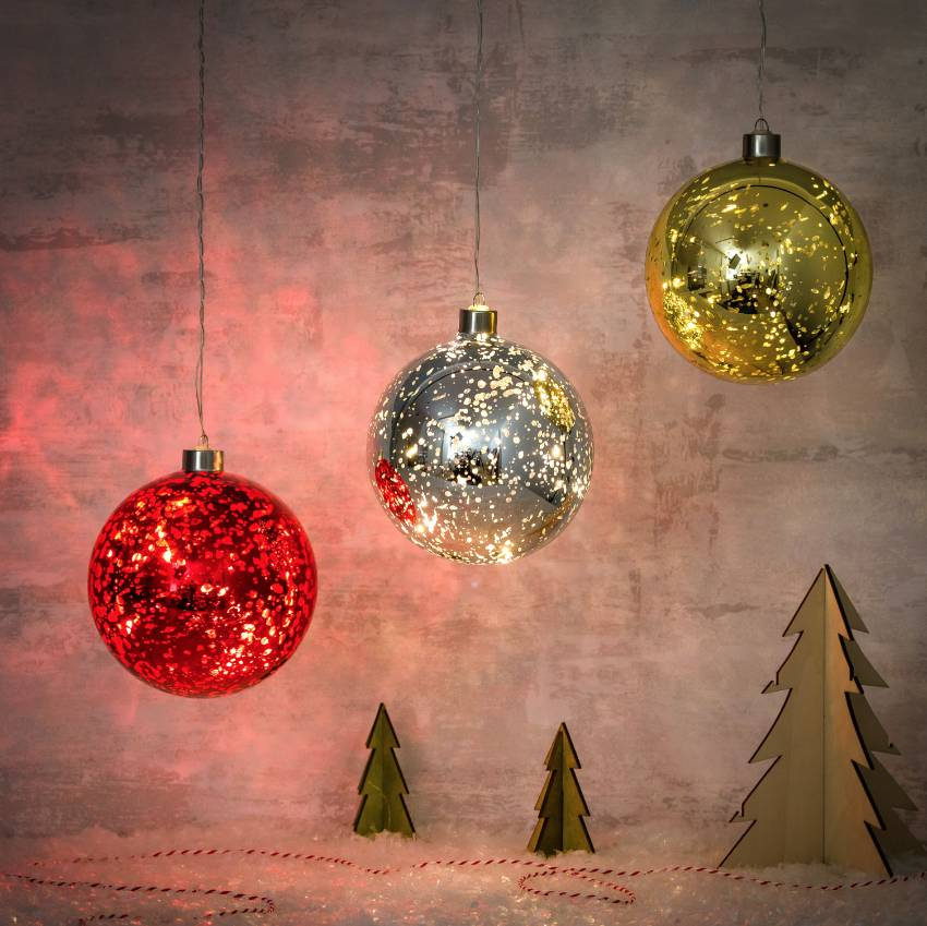 light up sparkle led hanging baubles by thelittleboysroom notonthehighstreetcom