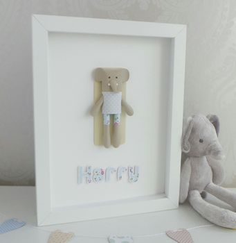 Personalised Framed 3D Paper Elephant