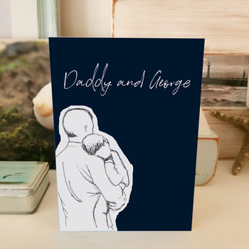 Daddy And Child Cuddles Father's Day Card A5