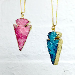 Elemental Drusy Spearhead Necklace