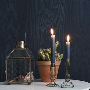 Large Decorative Brass Lantern - candles & candle holders