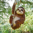 Hanging Sloth Garden Ornament