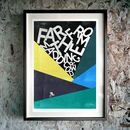 'Far From The Madding Crowd' Cycling Giclée Print