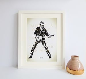 George Michael Commemorative Print